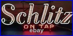 (VTG) 1968 Schlitz beer on tap neon light up sign motion moving flashing Rare