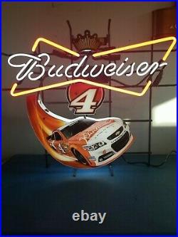 (VTG) 2014 Budweiser beer nascar racing #4 kevin Harvick neon light up sign