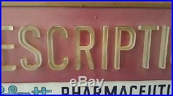 VTG Abbott Pharmaceutical Rx Pharmacy Lighted Neon Window Apothecary Sign 25x11