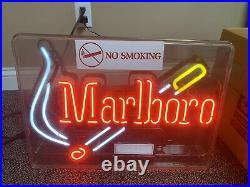(VTG) Marlboro Cigarettes NEON Light up Sign bar Tobacco Advertising