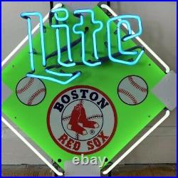 VTG NOS Boston Red Sox baseball diamond Miller lite beer neon Sign