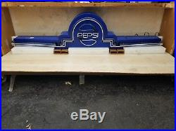 (VTG) Pepsi soda pop marquee movie theater neon light up sign 91 org box crate