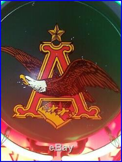 (VTG) budweiser beer neon light up sign eagle 30 bar andheuse busch rare
