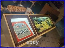 Very rare budweiser neon bar lighted sign vintage 80's mancave beer bud light