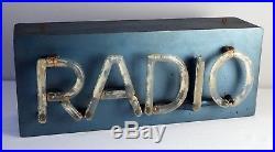 Very rare vintage neon radio sign original 30's GRAND