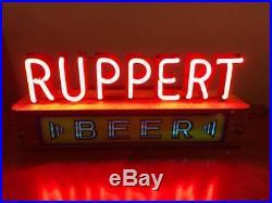 Vintage 1930s Jacob Ruppert Beer Neon Lackner Advertising Sign New York