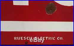 Vintage 1930s NEON RESTAURANT SIGN, Large 96 x 36 DECO Double-Sided Antique