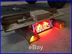 Vintage 1940's Double Kay Hot Nuts Neon Sign Shelf Old Copper