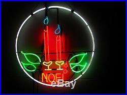 Vintage 1940's Neon Noel Christmas Light Xmas Sign Lite Type 7 Indoor Power 24