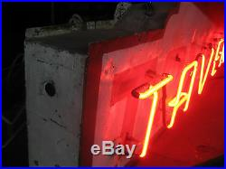 Vintage 1940's TAVERN Antique Neon Sign / Stunning
