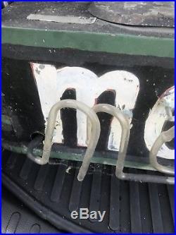 Vintage 1940s 4 Neon Moose Club Sign Painted Metal Bar, Fraternal Oneida Ny