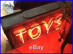 Vintage 1940s TOYS Double Sided Neon Store Display Sign