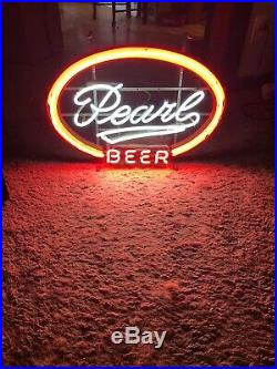 Vintage 1950/60s Neon Pearl Beer Sign San Antonio TX