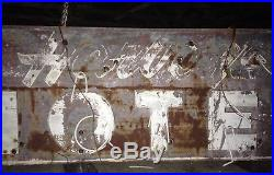 Vintage 1950 Neon HUGE 12 FOOT Lighted HOTEL Historical Sign RARE Double 2 Sided