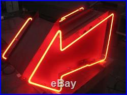 Vintage 1950'S DRIVE-IN THEATER Double Sided RED ARROW / Neon Sign antique