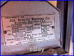 Vintage 1950 Schlitz Beer Neon Light-up Sign Bar 33 L X 11 X 2 Works