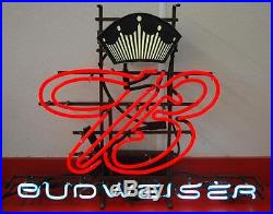 Vintage 1950's-1960's Budweiser Crown B Neon Beer Light Sign 23 X 30