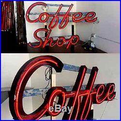 Vintage 1950's COFFEE SHOP Antique Neon Sign / Channel Lettering