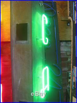 Vintage 1950's Vertical CAFE Antique Neon Sign / Superb