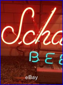 Vintage 1972 Schaefer Beer Neon Sign! NICE