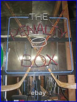 Vintage 1980's THE PENALTY BOX Neon SIGN Hockey Vintage Sports