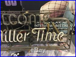 (Vintage) 1980s welcome to Miller time Miller beer neon light up bar sign rare