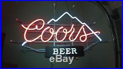 Vintage 1985 Coors Beer neon sign listed new as it was never used