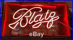 Vintage 1985 Nesco Briteway Neon Blatz Light Up Window Beer Sign in Box NOS