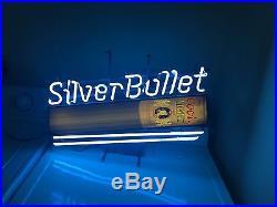 Vintage 1987 Silver Bullet Coors Lite Neon Sign