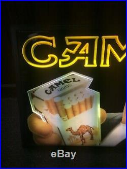Vintage 1993 Joe Camel Magnalite Retail Open Neon Sign Light Cigarettes