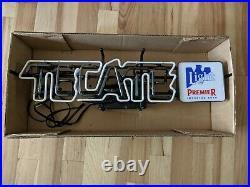 Vintage 1993 Tecate Light Cerveza Beer Neon Sign Franceformer union made NOS