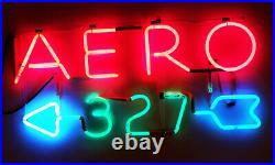 Vintage 3 Color Neon Sign AERO 327 With Split Arrow. New 5kv Transformer