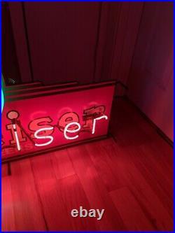 Vintage 48 x 24 Anheuser Busch Budweiser Neon Beer Sign Rare