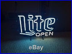 Vintage 80s Miller Lite Beer Neon Bar Sign (Collectors Item