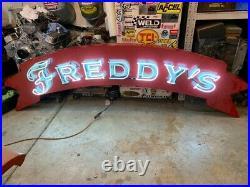 Vintage 8' Freddys Interior Neon Man Cave Garage Gameroom