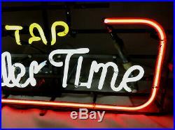 Vintage 90s On Tap to Miller Time Bar Man Cave Neon Sign Franceformer