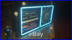 Vintage Action Ad Clock Neon Sign With Flip Over Messages Neon Tube Antique