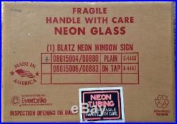 Vintage Blatz Beer Neon Sign Light Up Window Display Type New In Box