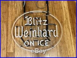 Vintage Blitz Weinhard On Ice Neon Sign