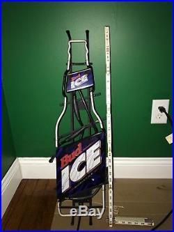 Vintage Bud Ice Neon Sign Budweiser Beer Bottle Sign Man Cave