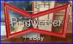 Vintage Budweiser Beer Bowtie Neon Bar Sign Anheuser Busch Franceformer