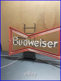 Vintage Budweiser Bow Tie Neon Sign