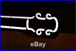 Vintage Budweiser Bowtie Neon Guitar Sign Pre-owned Local Pickup Only NJ 08731