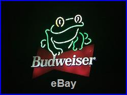 Vintage Budweiser Frog Neon Sign From Humphreys Bar
