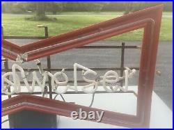 Vintage Budweiser Neon Sign