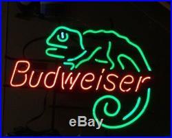 Vintage Budweiser beer Louie-the-Lizard neon tavern sign