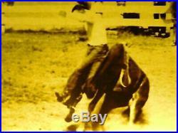 Vintage Budwiser Electric Bar Sign Cowboy Rodeo Original Free Shipping