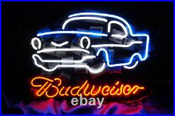 Vintage Car Craft Club Workshop Neon Light Sign Wall Decor Real Glass 16