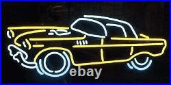 Vintage Car Dealer Neon Sign 19x15 Light Lamp Beer Bar Pub Decor Glass Windows