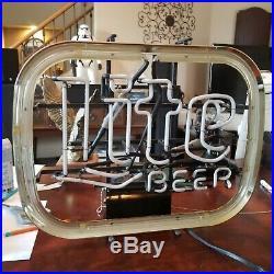 Vintage Classic Miller Lite Beer Neon Sign 1980 w Franceformer 7500 transformer